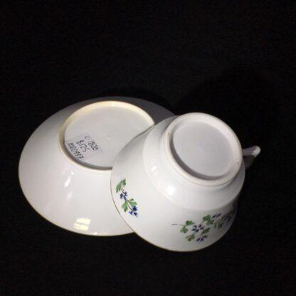 English porcelain cup & saucer, London shape with cornflower dec., c. 1820-27777