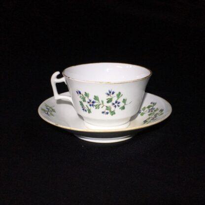 English porcelain cup & saucer, London shape with cornflower dec., c. 1820-27780