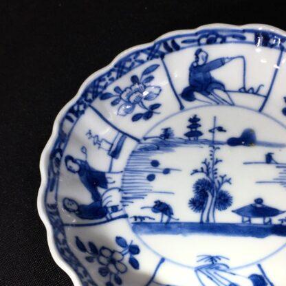 Chinese Export saucer, landscape & figure panels, Kanxi c. 1720 -27900