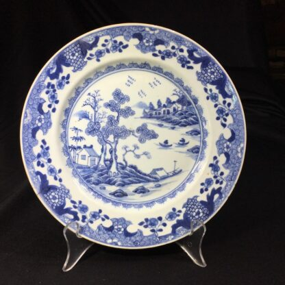 Chinese Export plate, river scene with boats, c.1770 -0