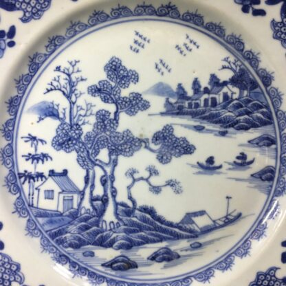 Chinese Export plate, river scene with boats, c.1770 -27758