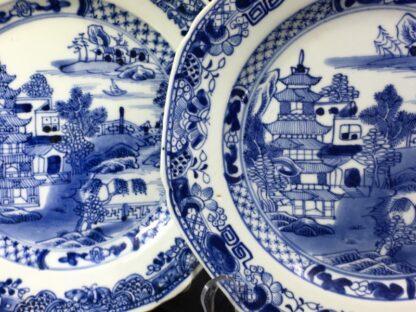 Pair of Chinese Export plates, island scenes, c. 1790 -27752