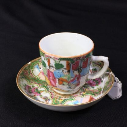 Cantonese (Chinese) 'Rose Medallion' cup & saucer, c.1870-27952