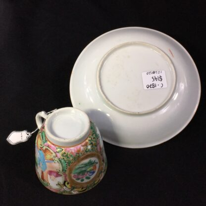 Cantonese (Chinese) 'Rose Medallion' cup & saucer, c.1870-27958