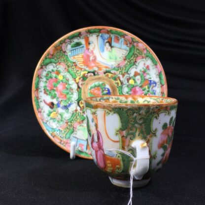 Cantonese (Chinese) 'Rose Medallion' cup & saucer, c. 1870-27937