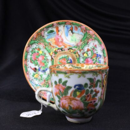 Cantonese (Chinese) 'Rose Medallion' cup & saucer, c. 1870-27941