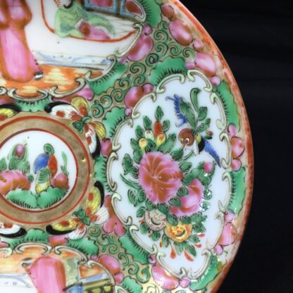 Cantonese (Chinese) 'Rose Medallion' cup & saucer, c. 1870-27950