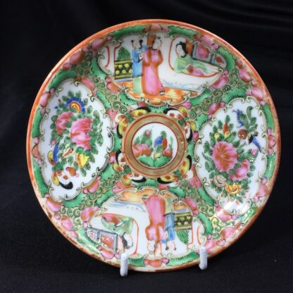 Cantonese (Chinese) 'Rose Medallion' cup & saucer, c. 1870-27945