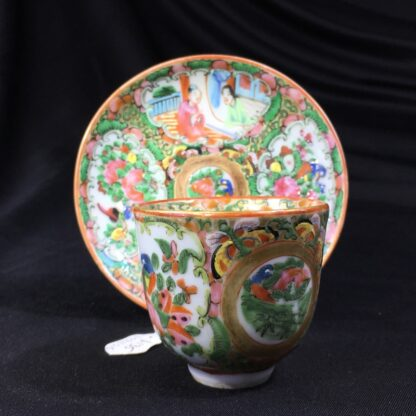 Cantonese (Chinese) 'Rose Medallion' cup & saucer, c. 1870-27939