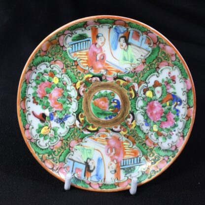 Cantonese (Chinese) 'Rose Medallion' cup & saucer, c. 1870-27940