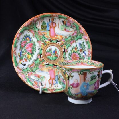Cantonese (Chinese) 'Rose Medallion' cup & saucer, c.1870-27953