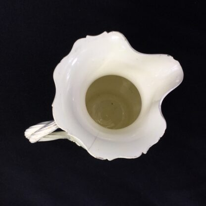 English creamware jug, Dutch decorated with 'Jesuit' religious scene in black, c.1775 -28211