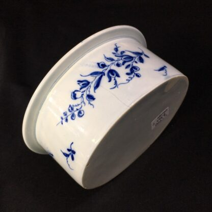 Pearlware potted meat pan, Worcester style flowers, c. 1770 -28172