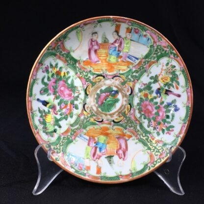 Cantonese (Chinese) Rose Medallion cup & saucer, London shape c.1860-28317