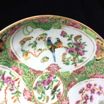 Cantonese (Chinese) 'Rose Medallion' cup & saucer, London shape c.1860-28314