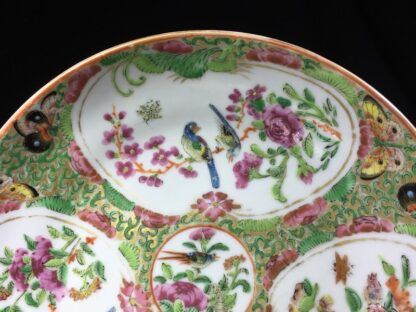 Cantonese (Chinese) 'Rose Medallion' cup & saucer, London shape c.1860-28313