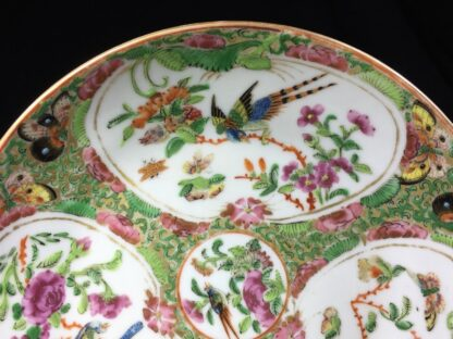 Cantonese (Chinese) 'Rose Medallion' cup & saucer, London shape c.1860-28315