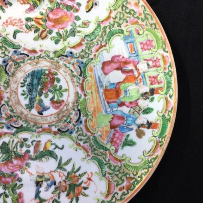 Canotonese (Chinese) 'Rose Medallion' plate, figures & flowers, c.1870 -28289