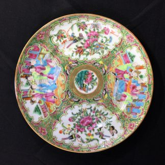 Cantonese plate with 'Rose Medallion' decoration, c. 1870 -0