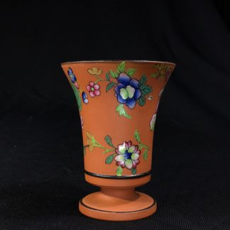Wedgwood 'Rosso Antico' small spill vase, flowers, circa 1880 -0