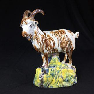 Wheildon type Creamware model of a goat, 19th century -0