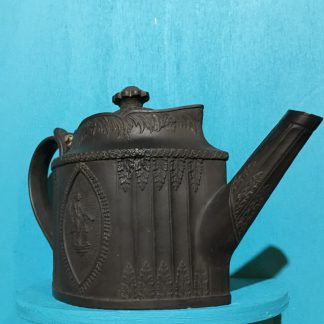 English black basalt Neoclassical teapot, Heath & Son 1805-10-28413