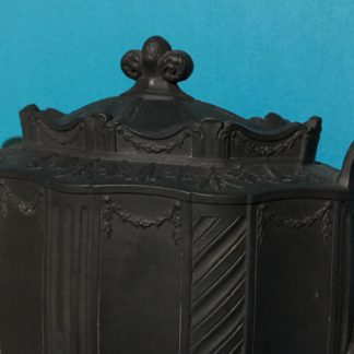 English black basalt teapot, Neoclassical form, c. 1810 -28397