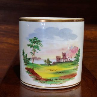 English bone china mug, landscape, c. 1840 -0