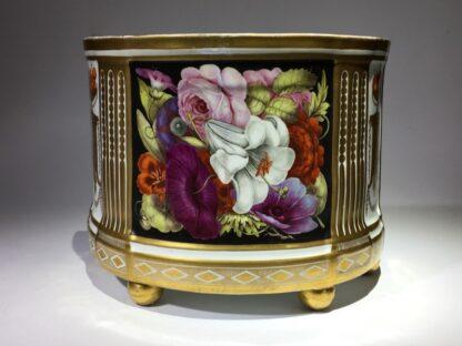 Pair of Coalport bough pots, flowers & cherries by Baxter studio, c. 1805-29060