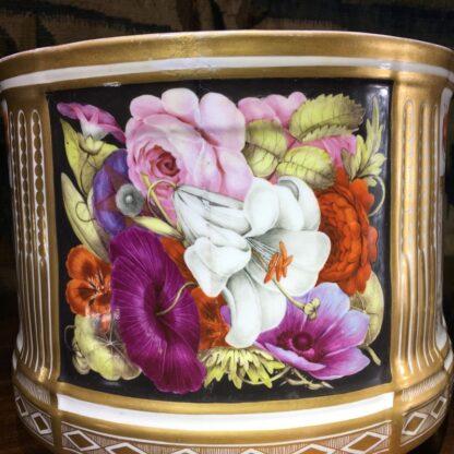 Pair of Coalport bough pots, flowers & cherries by Baxter studio, c. 1805-29194