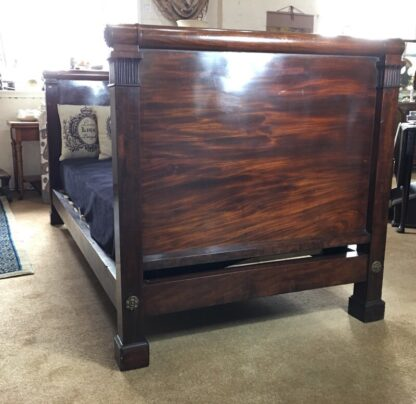 French Mahogany Empire single bed, c. 1820-29327