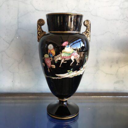 Dudson black glaze Chinoiserie vase, EUTERPE pattern c. 1875-28499