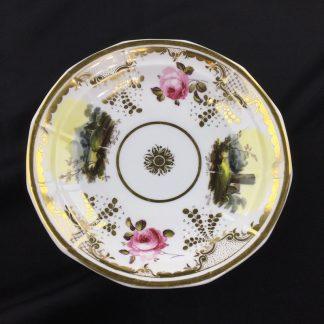 H & R Daniel dish with landscapes & roses, C. 1830-0