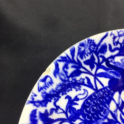 Royal Crown Derby cup and saucer , blue peacocks, dated 1877-1890-28634