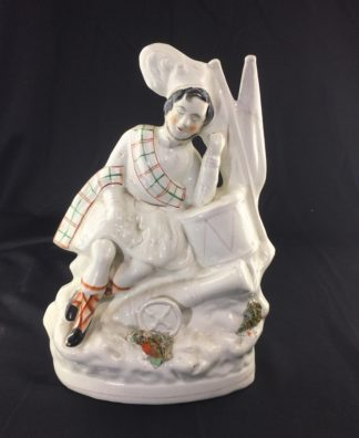 Staffordshire pottery figure of a sleeping Soldier, c. 1860 -0