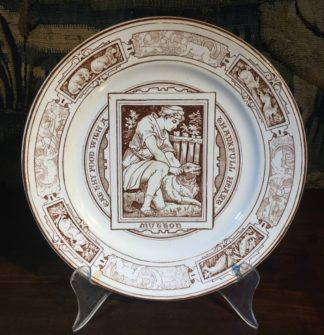 Wedgwood 'Banquet' pottery plate, 'MUTTON', by T Allen, dated 1879-0