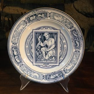 Wedgwood 'Banquet' pottery plate, 'FISH', by T Allen, dated 1895-0