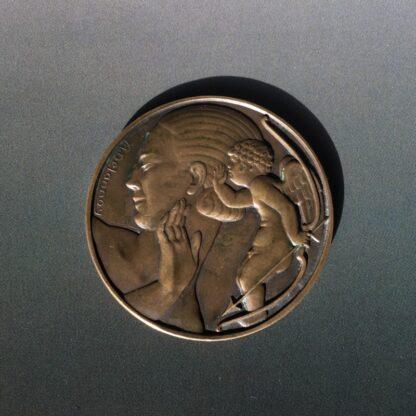 Art Deco bronze medallion by Delannoy, Venus, mid 20th century -28539