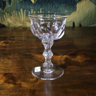 Victorian cut stem glass, circa 1870 -0