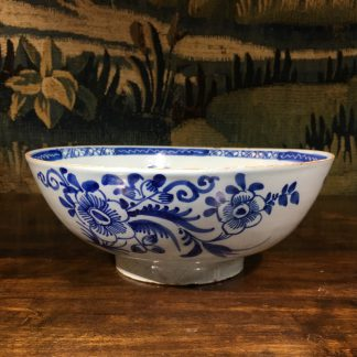 Large English delft punch bowl, Chinese Flowers, c. 1760 -0