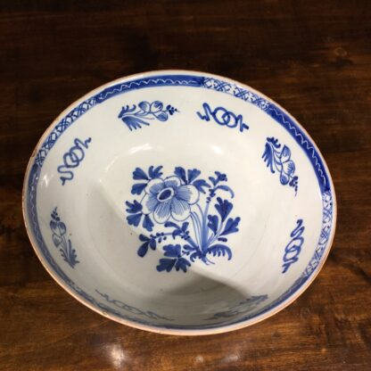 Large English delft punch bowl, Chinese Flowers, c. 1760 -29563