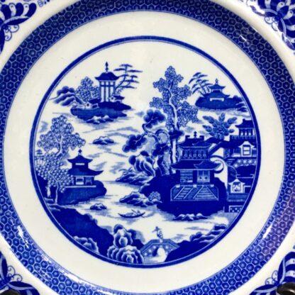 Spode Ironstone plate, pagoda scene, gilt rim c. 1820-29531