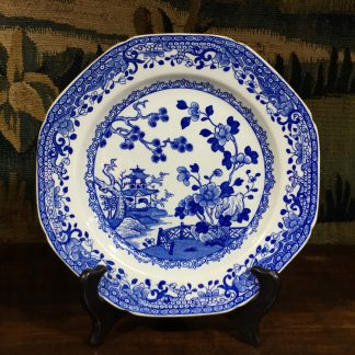 Spode octagonal plate, Chinese Garden print, Ironstone body, c. 1805-0