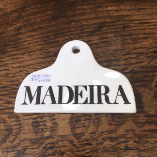 Spode pottery bin label MADERIA, c. 1830 -0