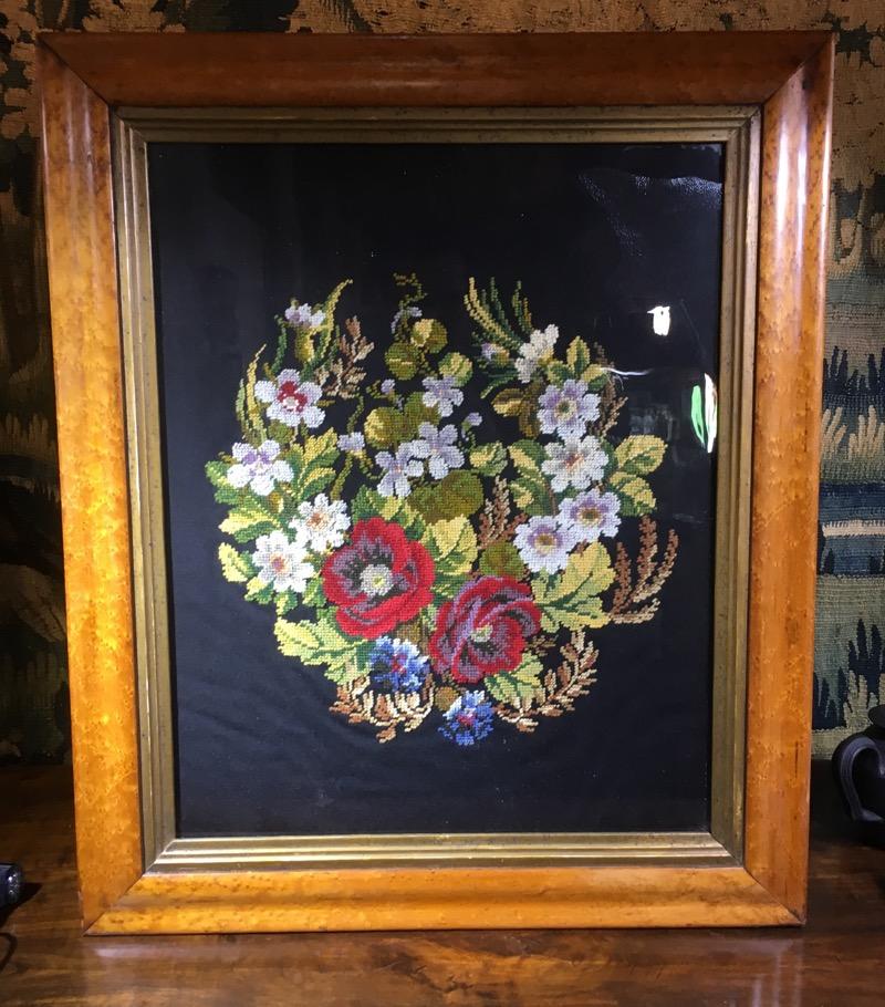 Framed Victorian needle point of flowers, c. 1880 – Moorabool ...