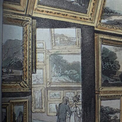 Rowlandson satyrical print, 'EXHIBITION OF WATER COLOURED DRAWINGS' 1808 -30674