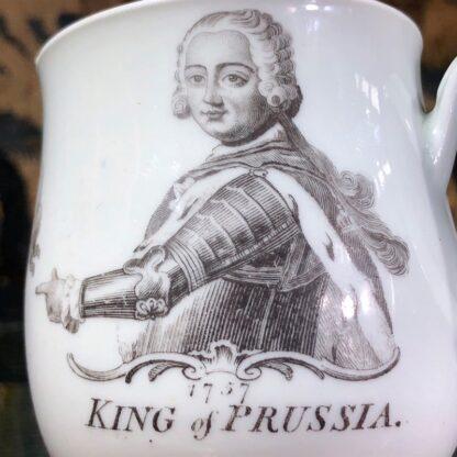Worcester 'King of Prussia' bell shape mug, c. 1757-31015