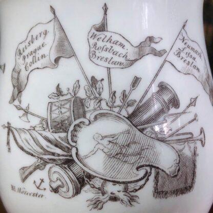 Worcester 'King of Prussia' bell shape mug, c. 1757-31017