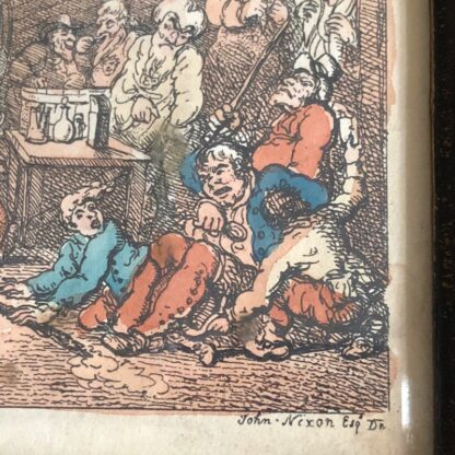 Rowlandson satyrical print, 'EXHIBITION OF WATER COLOURED DRAWINGS' 1808 -30687