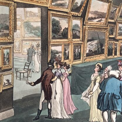 Rowlandson satyrical print, 'EXHIBITION OF WATER COLOURED DRAWINGS' 1808 -30688